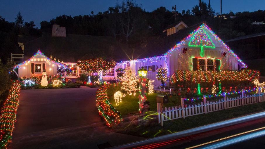 Christmas Lights Christmas Evening At Home