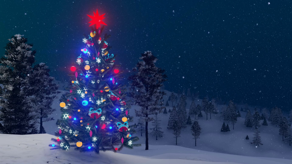 Christmas Trees Wallpaper Background