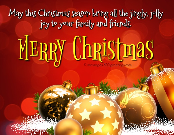 Merry Christmas Wishes To Family And Friends
