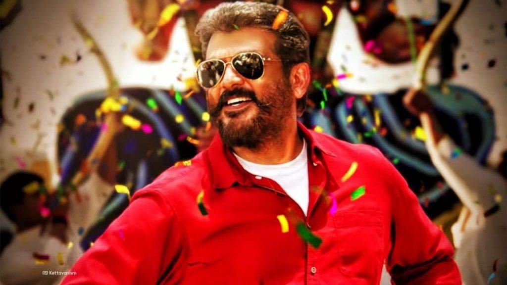 Thala Ajith In Red Shirt Viswasam Wallpaper Hd