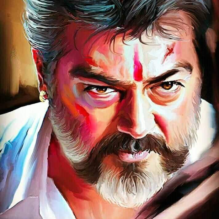 Viswasam Paintings For Whatsapp Status Or Profile Picture