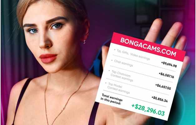 a girl from Washington shares real figures of her income on Bongacams
